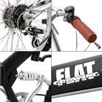 GROWING FLAT 20インチ 折りたたみ自転車 ブラック