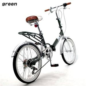Heaven's 20インチ折りたたみ自転車 グリーン