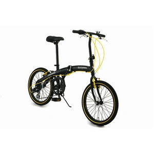 WACHSEN(ヴァクセン) アルミ折り畳み自転車 BA-100 20インチ ブラック&イエロー