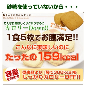 夏の豆乳おからクッキー