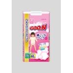 Goo.n(グーン) おむつ 肌ごこちパンツ BIGサイズ 46枚 女の子 【3セット】