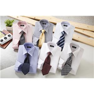銀座・丸の内のOL100人が選んだワイシャツ&ネクタイセット(カラー系) M  50172-M