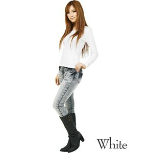 無地ロンTシャツ ホワイト Mサイズ