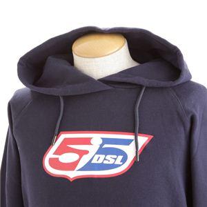 DIESEL55(ディーゼル55) HOODSWEAT(フードスウェット) パーカー 00D3QR Mサイズ D-800・ネイビー