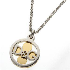 D&G(ディアンドジ―) ネックレス DJ0887/【クローバー】シルバー&ゴールド