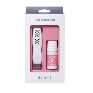 USB aroma time スターターセット「OFF」(本体色ピュアホワイト オイル付)