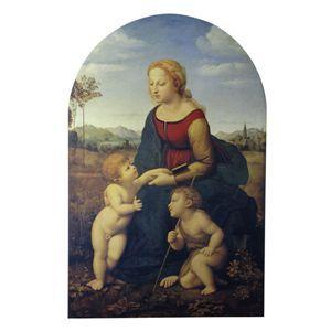 世界の名画シリーズ、プリハード複製画 ラファエロ・サンティ作 「美しき女庭師の聖母」