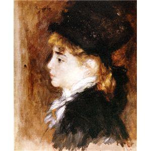 世界の名画シリーズ、プリハード複製画 ピエール・オーギュスト・ルノアール作 「モデルの肖像」