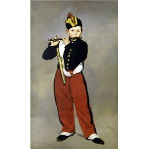 世界の名画シリーズ、プリハード複製画 エドゥアール・マネ作 「笛を吹く少年」