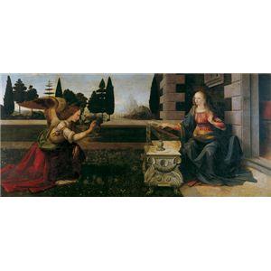 世界の名画シリーズ、プリハード複製画 レオナルド・ダ・ヴィンチ作 「受胎告知」