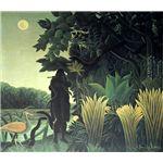 世界の名画シリーズ、プリハード複製画 アンリ・ルソー作 「蛇使いの女」