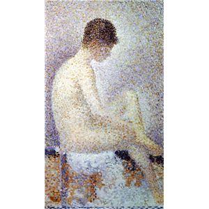世界の名画シリーズ、プリハード複製画 ジョルジュ・スーラ作 「ポーズする女」