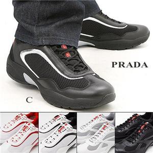 PRADA メンズシューズ LUE001 BLACK&SILVER 8.5
