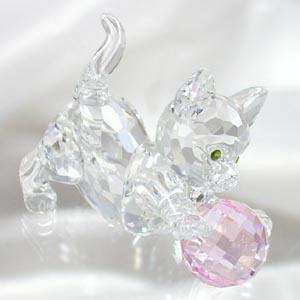 スワロフスキー 631856 子ネコ(ピンク) フィギュア