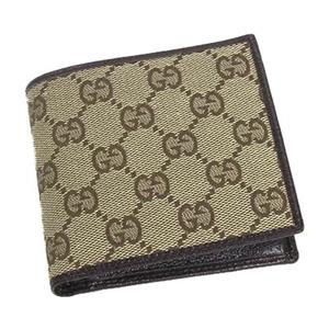 Gucci(グッチ) 04862R F40IR 9643 2ツ折財布 BE/DB