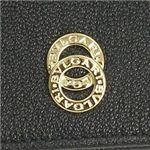 BVLGARI(ブルガリ) 26847 DOPPIO TONDO 財布BK/GO