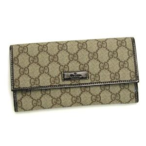 Gucci (グッチ) 203573 FP1KG 8552 ナガサツ BE/BR