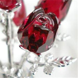 SWAROVSKI(スワロフスキー) 627098 赤いバラ フィギュア