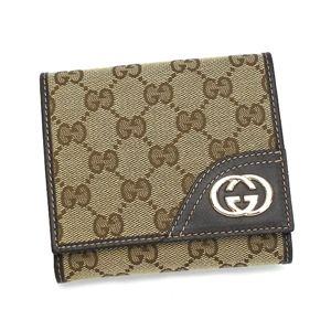 GUCCI(グッチ) 二つ折り財布(小銭入れ付) 181594 FFPAG 9643 ベージュ/ダークブラウン