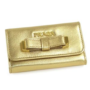 PRADA(プラダ) キーケース 1M0222 NAPPA FIOCCO プラチナ