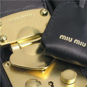 MIUMIU(ミュウミュウ)ボストンバッグ RN0555 MATELASSE ブラック