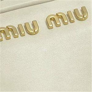 MIUMIU(ミュウミュウ)ショルダーバッグ RN0503 VITELLO LUX アイボリー