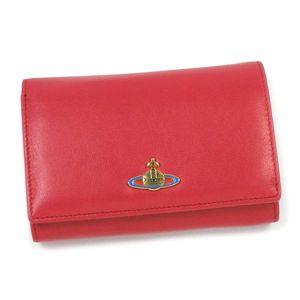 Vivienne Westwood(ヴィヴィアン ウエストウッド) 二つ折り財布(小銭入れ付) NAPPA 2232 レッド/ピンク