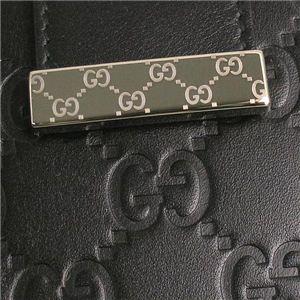 GUCCI(グッチ) Wホック財布 212090 WALLET FLAP FRENCH ブラック