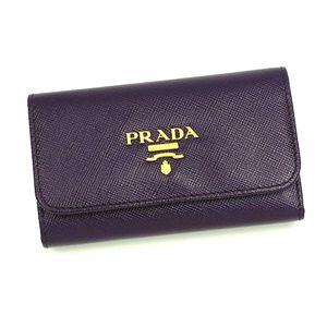 PRADA(プラダ) キーケース 1M0222 SAFFIANO METAL ORO バイオレット