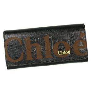 CHLOE(クロエ) 長財布 ECLIPSE 3PO303 LONG WALLET WITH FLAP BLACK