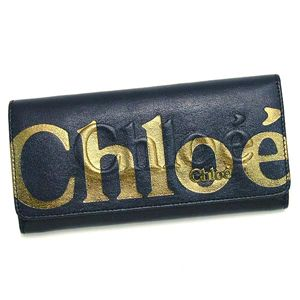 CHLOE(クロエ) 長財布 ECLIPSE 3PO303 LONG WALLET WITH FLAP INDIGO