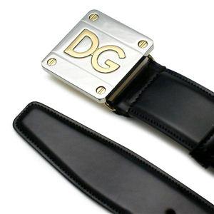 Dolce&Gabbana(ドルチェ&ガッバーナ) ベルト BC2493 QUADRATA BICOLOR LO ブラック 100