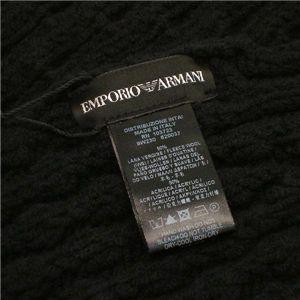 EMPORIO ARMANI(エンポリオ アルマーニ) マフラー 620037/9W230 ブラック