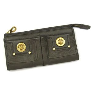 MARC BY MARC JACOBS (マーク バイ マークジェイコブズ)長札財布 TOTALLY TURNLOCK SLG M392449 ZIP CLUTCH ダークグリーン
