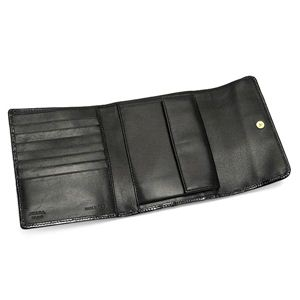 PRADA(プラダ) 三つ折り財布(小銭入れ付) TESSUTO VERNICE 1M0170 SAF METAL ブラック