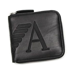 Emporio Armani(エンポリオ・アルマーニ) 二つ折り財布(小銭入れ付) YEM475 ブラック
