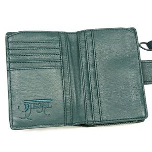 DIESEL(ディーゼル) 二つ折り財布(小銭入れ付) LOOK...THE LOCK 00XL18 LAPIS RUBBER T6106 カーキー