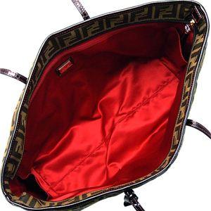 Fendi(フェンディ) トートバッグ ジャージ 8BH185 ROLL BAG CON LAMPO F0LQR レッド