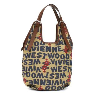 Vivienne Westwood(ヴィヴィアンウエストウッド) ショルダーバッグ STONEAGE 4818  ベージュ