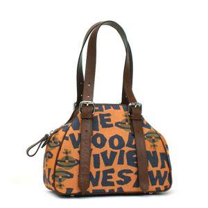 Vivienne Westwood(ヴィヴィアンウエストウッド) ショルダーバッグ STONEAGE 4813  オレンジ