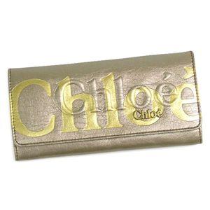 Chloe(クロエ) 長財布 ECLIPSE 3PO303 Long wallet with flap 19E ベージュ/ゴールド