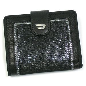 DIESEL(ディーゼル) 二つ折り財布(小銭入れ付) PARTY GIRL GENERATIO 00XM87 LAPI-GLAM T9002 ブラック