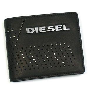 DIESEL(ディーゼル) 二つ折り財布(小銭入れ付) PERF-VIBE 00XM89 PERF-FERISH SMALL T8013 ブラック