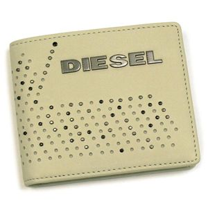DIESEL(ディーゼル) 二つ折り財布(小銭入れ付) PERF-VIBE 00XM89 PERF-FERISH SMALL T8036 ホワイト
