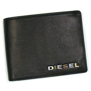 DIESEL(ディーゼル) 二つ折り財布(小銭入れ付) JEM WALLETS XG63 NEELA SMALL T8013 ブラック