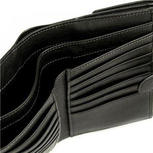 Loewe(ロエベ) Wホック財布 ANAGRAM COATED CANVA 118.80.A54 BILLFOLD PURSE ブラック