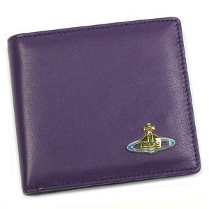 Vivienne Westwood(ヴィヴィアンウエストウッド) 二つ折り財布(小銭入れ付) NAPPA 730 VIOLET