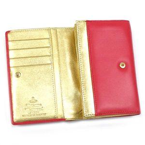 Vivienne Westwood(ヴィヴィアンウエストウッド) 二つ折りL字ファスナー財布 NAPPA 2232 ピンク/ゴールド