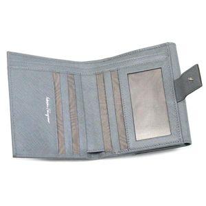 Ferragamo(フェラガモ) Wホック財布 GANCINI ICONA VITELL 224639 426607 ライトグレー