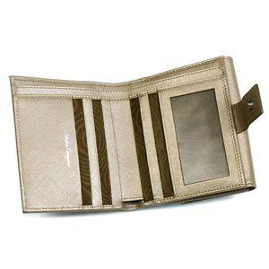 Ferragamo(フェラガモ) Wホック財布 GANCINI ICONA VITELL 224639 433257 ブロンズ